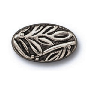 TierraCast Botanical Bead, Antique Pewter