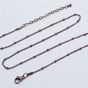 20 Inch Chocolate Stainless Steel Station Ball Chain for Floating Locket