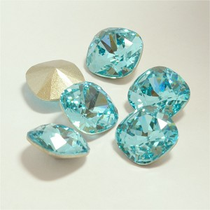 12mm LIGHT TURQUOISE Swarovski Cushion Cut Fancy Stone