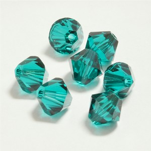 Emerald 5mm Swarovski Xilion Bicone, Pkg. of 12