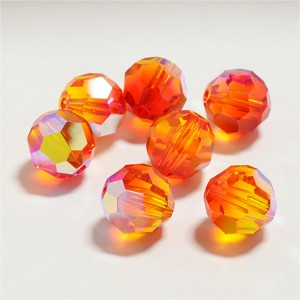 Fire Opal AB 6mm Swarovski Faceted Round, Pkg. of 12