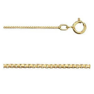 16 Inch 14Kt Gold-filled 0.8mm Box Chain