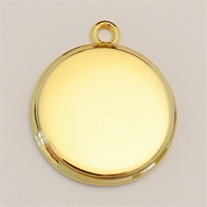 23mm Beveled Circle Ionic Gold-Plated Engraving Blanks, Pkg. of 10