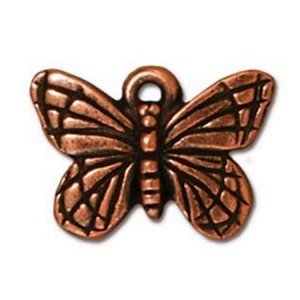 TierraCast Monarch Butterfly Charm, Antique Copper