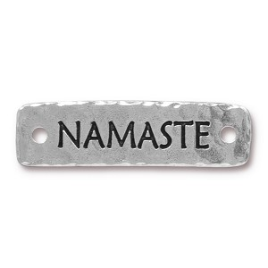 TierraCast Namaste Link, Antique Silver