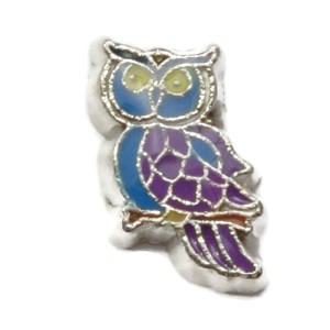 Purple Owl Charm