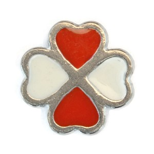 Red and White Hearts Charm