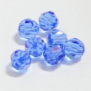 Sapphire 6mm Swarovski Faceted Round, Pkg. of 12