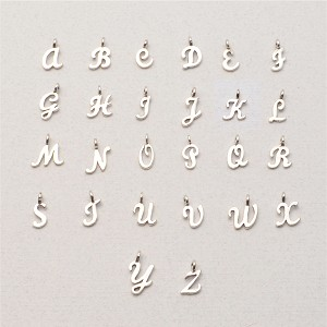 Sterling Silver Script Alphabet Charm