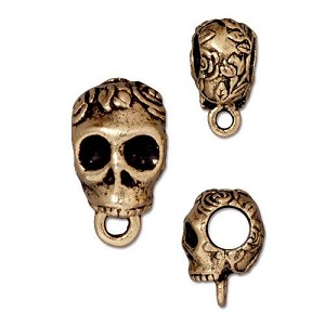 TierraCast Skull Bail, Antique Gold