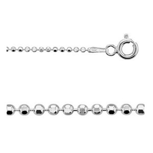 18 Inch Diamond Cut Sterling Silver 1.5mm Ball Chain