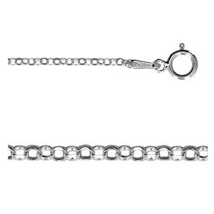 18 Inch Sterling Silver 1.5mm Diamond Cut Rolo Chain