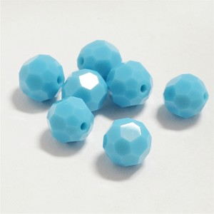 Turquoise 6mm Swarovski Faceted Round, Pkg. of 12