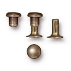 TierraCast 4mm Compression Rivets, Brass Ox, Package of 10