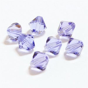 Tanzanite 3mm Swarovski Xilion Bicone, Pkg. of 24