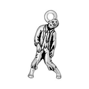 TierraCast Zombie Charm, Antique Silver