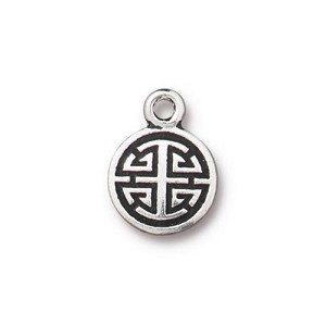 TierraCast Chinese Lu Charm, Antique Silver