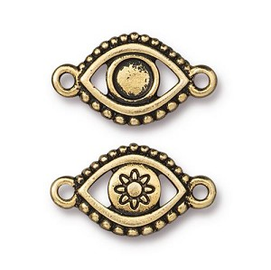 TierraCast Evil Eye Link Empty for SS20 Crystal Flatback, Antique Gold