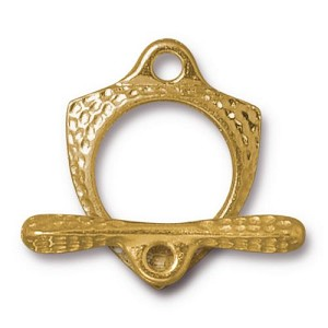 TierraCast Forged Toggle Clasp, Bright Gold