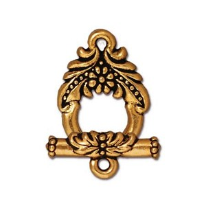 TierraCast Garland Toggle Clasp, Antique Gold