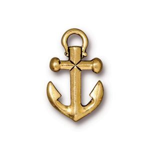 TierraCast Anchor Charm, Antique Gold