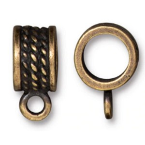 TierraCast 8mm Rope Bail, Brass Ox