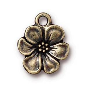 TierraCast Apple Blossom Drop, Brass Ox
