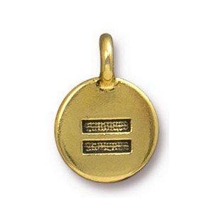 TierraCast Equality Charm, Antique Gold