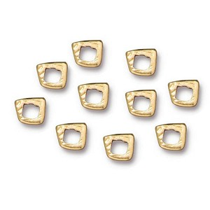TierraCast Intermix 1 Ring Link, Bright Gold, Pkg. of 10