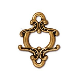 TierraCast Keepsake Clasp, Antique Gold