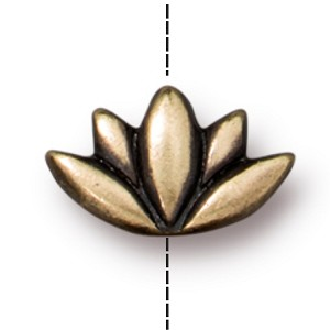 TierraCast Lotus Bead, Brass Ox