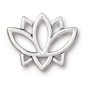 TierraCast Open Lotus Link, Antique Silver