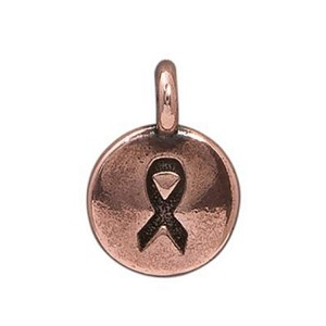 TierraCast Ribbon Charm, Antique Copper