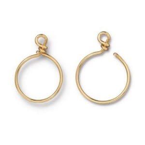 TierraCast Small Charm Keeper Hoop, Gold Plated