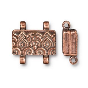 TierraCast Temple Stitch-In Magnetic Clasp, Antique Copper