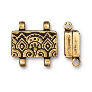TierraCast Temple Stitch-In Magnetic Clasp, Antique Gold Plate