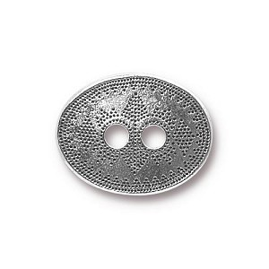 TierraCast Tribal Button, Antique Silver